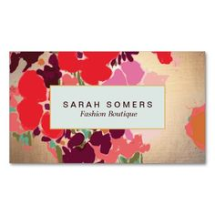 Elegant and colorful flowers illustration visit card. #visitcard #businesscard #callingcard