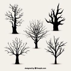 New Tree Silhouette Vector Tattoo Ideas 34 Ideas Cartoon Silhouette, Tree Silhouette, Silhouette Vector, Art Et Nature, Sharpie Art, Tree Illustration, Tree Designs, Elementary Art, Tree Art
