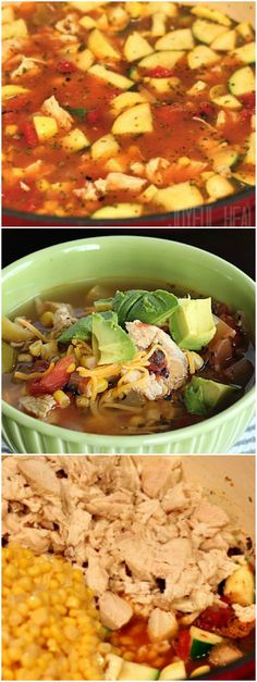 This Chicken Tortilla Soup is loaded with vegetables to make a favorite recipe that much better! | joyfulhealthyeats.com