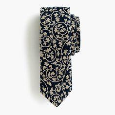 "Based in Portland, Oregon, Kiriko makes ties, pocket squares and accessories using vintage fabrics that pay tribute to the founders' Japanese heritage (like centuries-old denim, hand-dyed <i>shibori</i> and <i>karakusa</i>, a traditional pattern that resembles tangled vines). <ul><li>2 1/2"" at widest point.</li><li>Cotton.</li><li>Made in USA.</li><li>Select stores.</li></ul>"