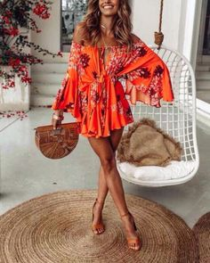 Floral Romper, Romper, Off The Shoulder, Summer Outfits, Spring Outfits, Beach Outfits, Vacation, Outfit Ideas, goodnightmacaroon.co