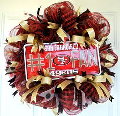 San Francisco 49ers Wreath Adoorable Wreaths by Melissa