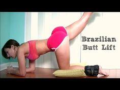 Natural Brazilian Butt Lift Workout - YouTube