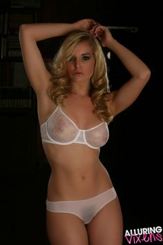 See wife sheer lingerie through bra
