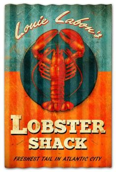 lobster shack decor | Vintage and Retro Tin Signs - JackandFriends.com - Lobster Shack ...