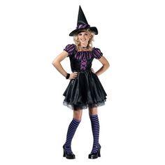 Purple Stripe Witch Pre-Teen Girls Costume -  Size 14-16