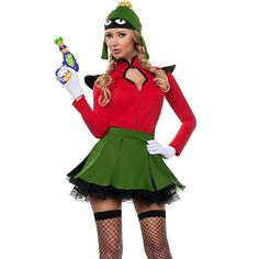 cartoon funny comic marvin the martian fancy dress womens costume space alien   Clothes, Shoes & Accessories, Fancy Dress & Period Costume, Fancy Dress   eBay!
