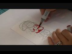 Copic - Coloring and blending with Red. Tutorial by Suzanne J Dean. She does a beautiful job!