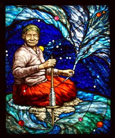 Stained glass its name is Spinner of the soul