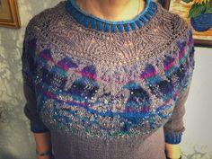 """Пуловер связан по описанию немецкого дизайнера Manja Vogelsang """"Поющие птицы""""из """"Beby merino"""" норвежского производства и шведской шерсти ручного крашения. Вес 395 граммов, спицы номер 3. Crochet Top, Felt, Knitting, Sweaters, Handmade, Clothes, Tops, Women, Fashion"""