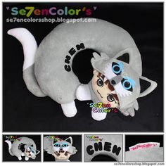 Chen of EXO -- Neck Pillow Wolf Ver. T Line, Neck Pillow, Chen, Exo, Wolf, Wolves, Timber Wolf