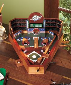 Wooden Baseball Pinball Game | The Lakeside Collection