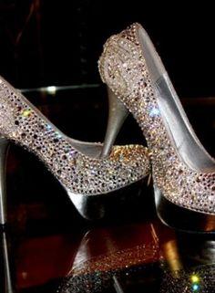 """Silver Pumps / High Heels - """"Cinderella"""" Swarovski Pumps by DaisyCombridge"""