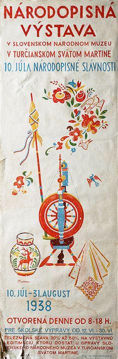 Ľudovít Fulla - Národopisná výstava v Turčianskom svätom Martine European Countries, Czech Republic, Folklore, Embroidery, Inspired, Gallery, Creative, Illustration, Handmade