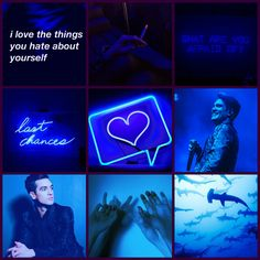 I made another one! This is so much fun lol seriously if anyone has any requests comment a person and a color and i will do it! Brendon Urie blue moodboard (my edit)