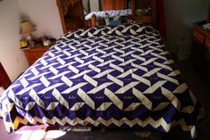 Crown Royal quilt made from  Crown Royal bags