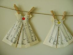 Paper Garland  Oragami Dresses by paperdollyandme on Etsy, $29.95