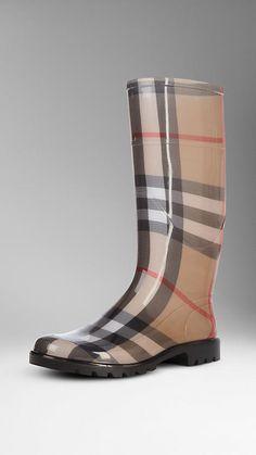 House Check Rain Boots | Burberry