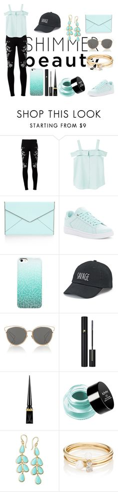 """""""Untitled #179"""" by justec ❤ liked on Polyvore featuring EA7 Emporio Armani, MANGO, Rebecca Minkoff, K-Swiss, SO, Christian Dior, Lancôme, Christian Louboutin, NYX and Ippolita"""