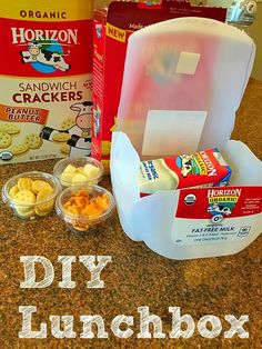 How to repurpose a milk jug into a lunchbox! Fun activity to do with your kids to use for snack time or lunch box when you're on the go. AD