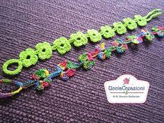 Tutorial 6-Senza Musica * Bracciali Fiore * Simil - Cruciani Uncinetto . Crochet Bracelets - YouTube