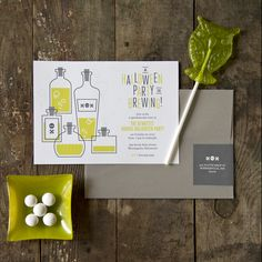 Halloween Brewing Party Invitations by A Splendid Party via Oh So Beautiful Paper (2)