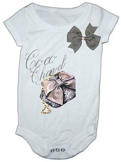 Coco Chanel Inspired Onesie by LuluBellaBabyBotique on Etsy, $16.99