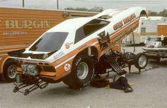 Gary Burgin's Funny Car...Green Valley Raceway...TX...1982