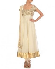Engagement Outfit? CITRUS BY SHIBANI Vanilla Sequined Anarkali Suit $559 http://www.exclusively.in/vanilla-sequined-anarkali-suit