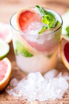 Grapefruit Caipirinha Recipe - What is a Caipirinha?  Apparently, it's Brazil's national cocktail. Traditionally it's made with cachaça (very similar to white rum), sugar, and lime. Kind of like a mojito, just minus the rum and mint.