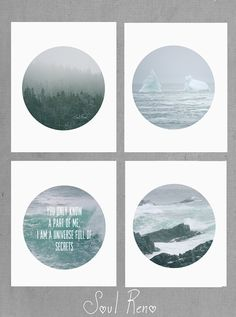 digital download beach photo iceberg forest green blue by SoulReno, $22.00
