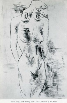 Georges Braque (1882 - 1963) | Post-Impressionism | Nude study - 1908