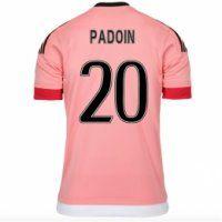 Juventus Away 2015-16 Season Pink PADOIN #20 Soccer Jersey