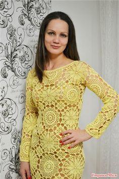 Платье мотивами - Вязание - Страна Мам