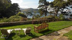 Ard Na Sidhe, Lake Caragh, Co Kerry, Ireland  Located just 30 minutes outside the town of Killarney, this exquisite country house sits on the shores of Lake Caragh. The gardens here are truly magical.