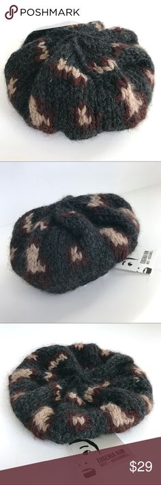 🆕 NWT Eugenia Kim Baby's 100% Wool Knit Beret/Hat 🆕 NWT Eugenia Kim Baby's 100% Wool Knit Beret/Hat.  Baby's one size.  Style: Evelyn Baby.  Charcoal, black and brown in color... totally adorable and fashion forward!  Brand new with tags.  Perfect condition; flawless. Eugenia Kim Accessories Hats