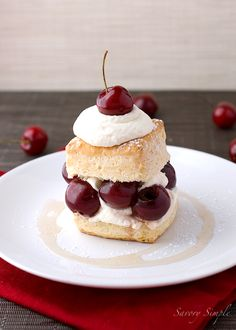 Drunken Cherry Shortcake is a delightfully boozy summer dessert.