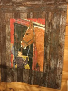 The king and I original quilt made from a phot of my hairdressers nephew and horse