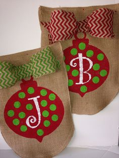 Christmas Ornament Burlap Garden Flag by mynestcreations on Etsy, $20.00