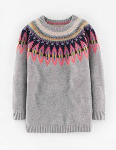 Fair Isle Jumper WV059 Clothing at Boden