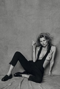 Vogue Italia January 2015 Feat. Kate Moss by Peter Lindbergh