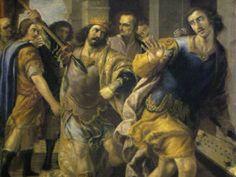 Saul threatening David by Jose Leonardo