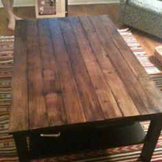 Rustic Wood Coffee Table DIY.