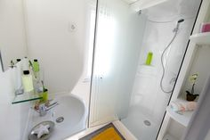 salle de bain du ty mor au camping le lac à carnac en bretagne