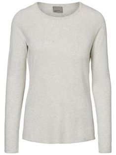 Casual Long Sleeved Blouse Dames Grijs Vero Moda pHdzKRdXm