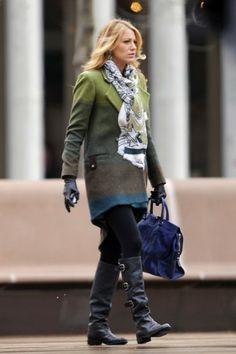 Cappotto multicolor di Serena Van Der Woodsen