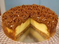 Cheesecake de doce de leite | receitas | Pinterest