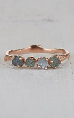 Twig Engagement Ring – Montana Sapphire Ring in Yellow Gold, White Gold, Rose Gold or Platinum