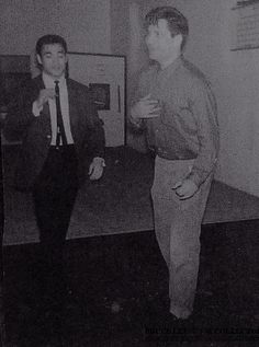 Bruce Lee with Ed Parker