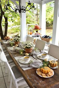 Outdoor dining is always safer than indoor, so how about setting up small tables at a distance in your backyard so that you can spend Thanksgiving with people you love. If the weather is cold where you can try renting some heat lamps and put out blankets to keep you warm. See more party ideas and share yours at CatchMyParty.com #catchmyparty #partyideas #thanksgiving #thanksgivingparty #socialdistancethanksgiving #covid19thanksgiving #virtualthanksgiving